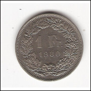 SUIÇA 1 Franc - 1980 - sob  km 24A.1
