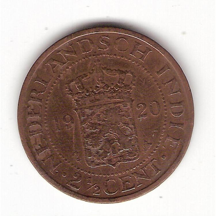 INDIAS HOLANDESAS 2 1/2 Cents 1920 - km 316