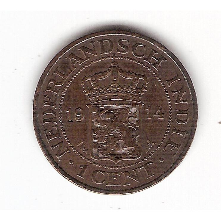 INDIAS HOLANDESAS 1 Cent 1914 - km 315