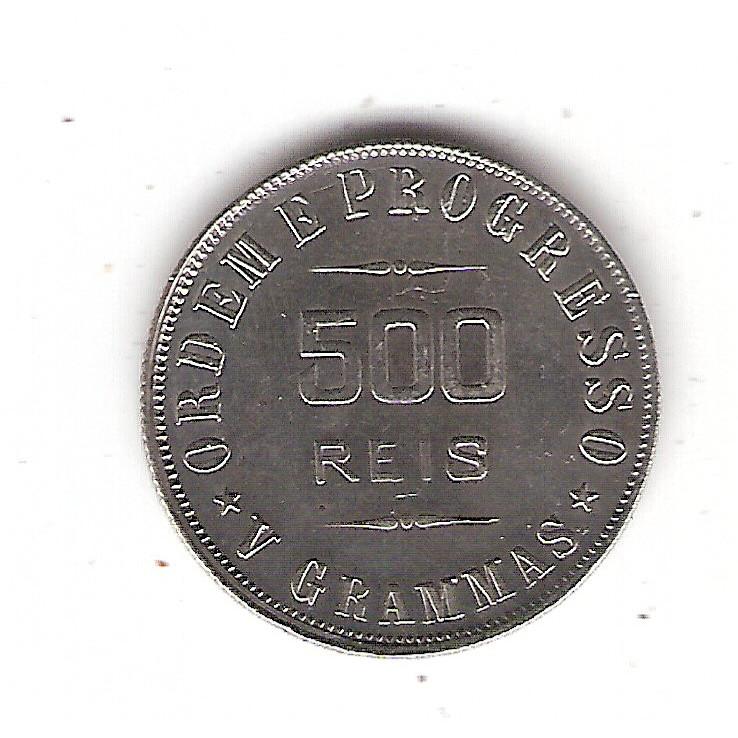 500 reis 1908- V grammas - sob  (683)