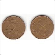 25 Centavos/REAL - 2002 - REV HORIZONTAL ESQUERDO (510b)#25
