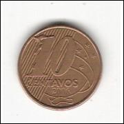 10 Centavos/REAL - 2006 - empastamento no anverso (493a)#27