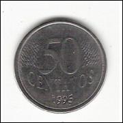 50 Centavos/REAL - 1995 - data vazada no reverso (453a)#28
