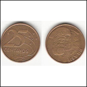 25 Centavos/REAL - 2013 - REV INVERTIDO (521A)#29
