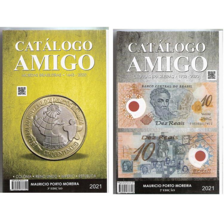 CATÁLOGO AMIGO 2 em 1 - CÉDULAS E MOEDAS - 3a.Edição - 2021