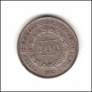 200 reis  1857 coroa com espinhos - sob (575)=2