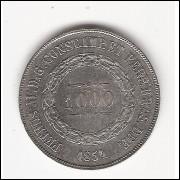 1000 reis - 1854 - data escassa - sob (602)=2