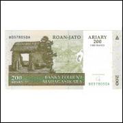 MADAGASCAR 200 Ariary 2004 - P.87B FE =2