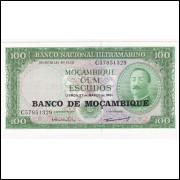 MOÇAMBIQUE 100 Escudos 1961 - P.117  FE =2