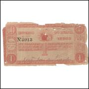 R-011 - 1000 Reis - 1844- UNIFACE -UTG/BC