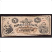 R-031a - 5000 Reis - 1869- autografada - MBC(+)