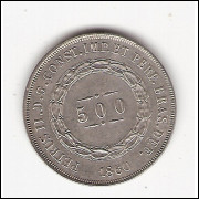 500 reis - 1860 - FC (593)