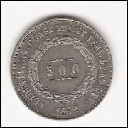 500 reis - 1862 - FC (595)