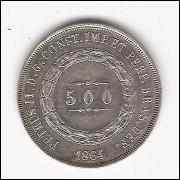 500 reis - 1864 - FC (597)