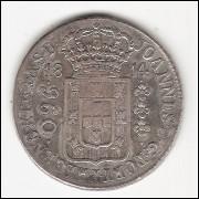 960 reis - 1814 Rio - var.17a - sob - s/LIMA