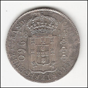 960 reis 1814 R - var 17A - s/Lima - Ferd VII - Escassa sob/fc