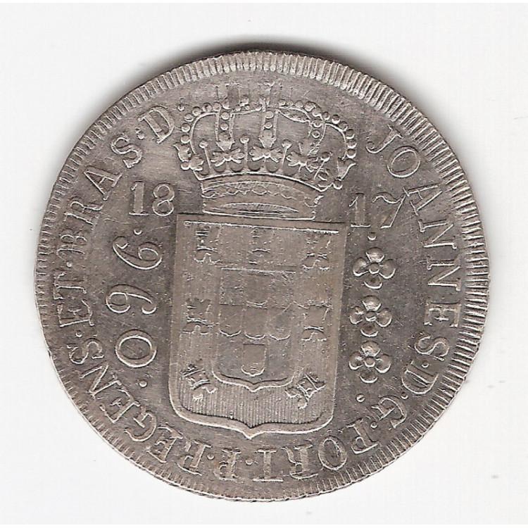 960 reis - 1817R - var. 71b- sob s/Lima