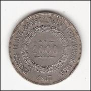 1000 reis - 1857 - mbc/sob (P605)=2