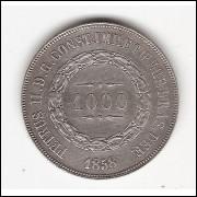 1000 reis - 1858 - sob/fc (P606)