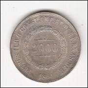 2000 Reis - 1864 - Escassa - FC (P623)