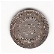 200 Reis - 1861 - sob ( P579)=2