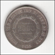 2000 Reis - 1853 - sob (P615)=2