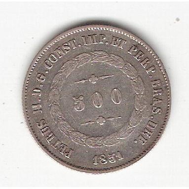 500 reis - 1851 - mbc/sob (564)=2