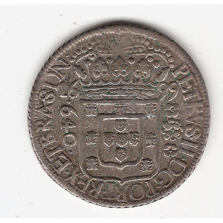 640 reis - 1699  - B com dupla batida (136)