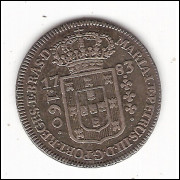 160 reis - 1783 - coroa baixa - mbc/sob (310)