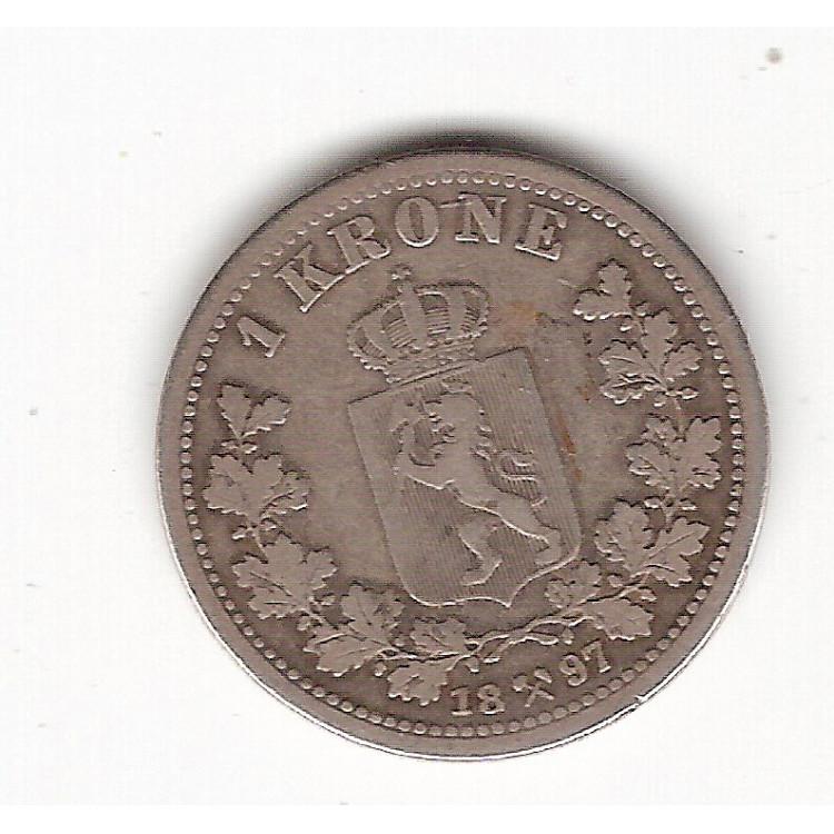 NORUEGA - 1 Krone 1897 (357)