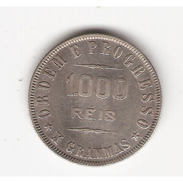 1000 reis - 1911 - X grammas - mbc/sob (691)