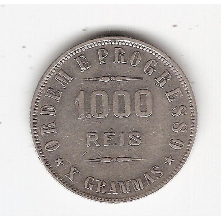 1000 reis - 1911 - X grammas - mbc/sob (691)#0002#