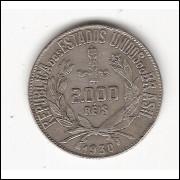 2000 Reis - 1930 - mbc (716)=2