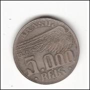 5000 Reis - 1936 - Santos Dumont sob (736)=2