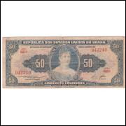 C-026 - CINQUENTA CRUZEIROS - 1958 - bc/mbc (s.605)