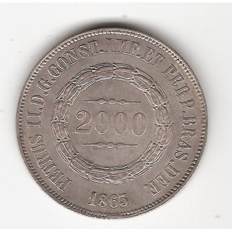 2000 reis - 1863 - FC (622)