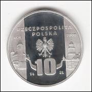 POLONIA - 10 Zlotych - Prova de 2000 - PROOF - Y#403 FC