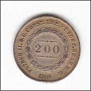 200 reis - 1859 - coroa com PEROLAS - (577a)=2 RARA