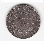 1000 reis 1856 - ponto entre 0.0 (604b)=2