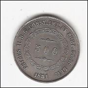 500 reis - 1851 - sob (564)