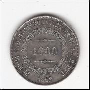 1000 reis - 1852 - sob/fc (569)
