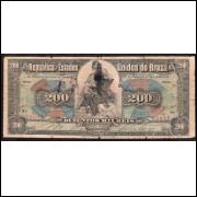 R-147 - 200.000 Reis - 1908 - bc/mbc - RARA