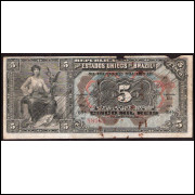 R-093 - 5.000 Reis - 1908 - mbc - s.69a.