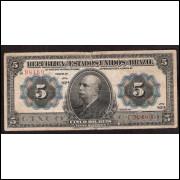 R-095 - 5.000 reis - 1913 - mbc (s.82)