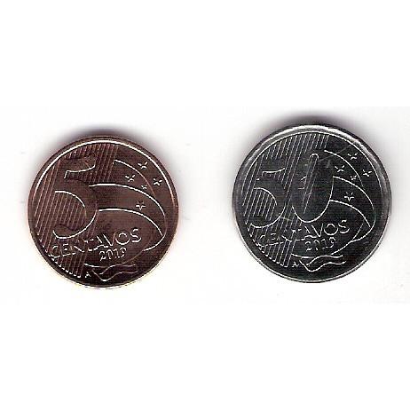 2019 - 5 centavos + 50 centavos - 2019 - letra A - FC
