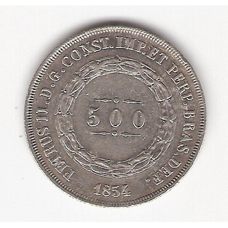 500 reis - 1854 - data emendada - sob (P587)