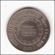 1000 reis - 1853 - sob (P601)