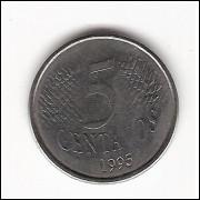 5 centavos - 1995 (V443)  data vazada-  ERRO