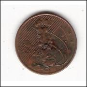 5 centavos - 2009 (V469b) - falha no disco - ERRO