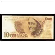 10.000 Cruzeiros Reais - RENDEIRA - FE - Cédula Fantasia